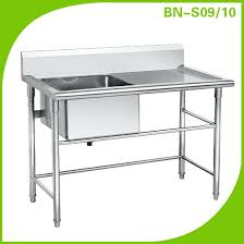 Stainless Steel Bench With Sink Commercial Kitchen Sinks Used Commercial Used Stainless Steel