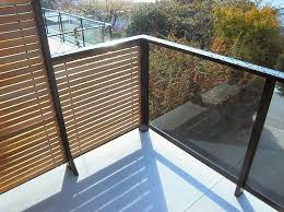 privacy screen with glass railing on deck google search yard