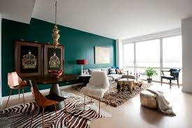 grey and dark green living room interior design
