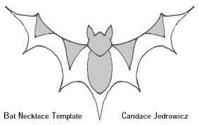 halloween hanging bat template
