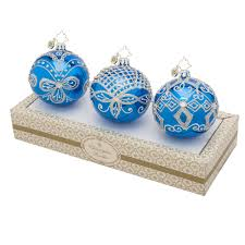 christopher radko ornaments 2015 radko blue silver boxed glass