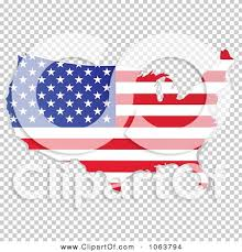 clipart american flag map royalty free vector illustration by