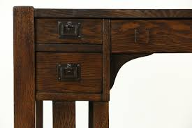 Small Oak Desk by Sold Arts U0026 Crafts Mission Oak 1905 Antique Library Table