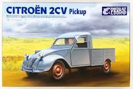 citroen pickup ebbro 25004 citroen 2cv pickup 1 24 scale plastic model kit