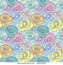 beautiful wrapping paper beautiful roses vector illustration stock vector