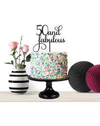50 birthday cake slash prices on birthday cake topper 50 and fabulous milestone