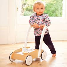 baby walker with wooden blocks jojo maman bebe baby walker with pastel wooden blocks
