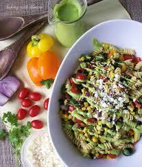 Creamy Pasta Salad Recipes Baking With Blondie Southwestern Pasta Salad With Creamy Avocado