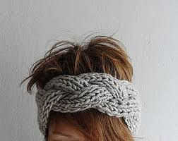knitted headband knit headbands etsy