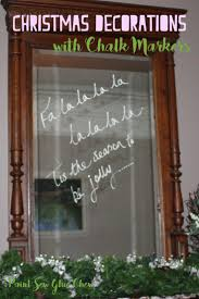 chalkmarker christmas decorations for windows and mirrors