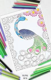 love peacock coloring page easy peasy and fun