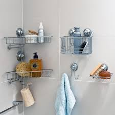 furniture simple bathroom storage with metal cascaded shelf in