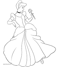 cinderella dress coloring images