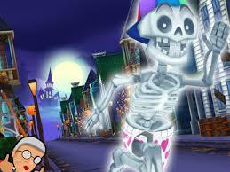 angry gran run halloween village online game gameflare com