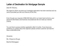 Financial Warranty Letter letter of declination