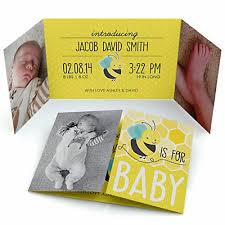 honey bee photo birth announcements bigdotofhappiness