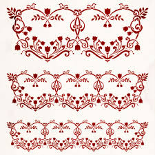 shabby chic stencil floral heart decorative pattern 065 shabby