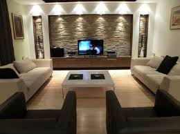 Wall TV Units In Modern Living Room Interior Decorating Designs - Tv room interior design ideas