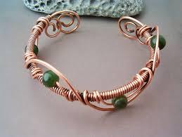 wire jewelry bracelet images Bracelet wire wrapped copper jewelry handmade bracelet hammered jpg