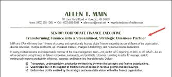 Senior Finance Executive Resume Storyline Resumes Resume For Your Job Application