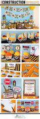 construction birthday party printable package u0026 invitation
