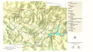 Tucson Arizona Map by Spring Mountains Cultural Landscape Map The University Of