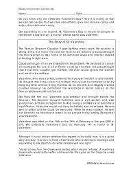 Flag Day Reading Comprehension Worksheets The Story Of St Valentine Valentine U0027s Day Martyr