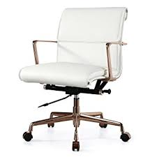 white gold office chair amazon com meelano m347 leather office chair gold