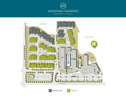 Paradise Valley Community College Map Residences At Mountain Shadows The New Home Company
