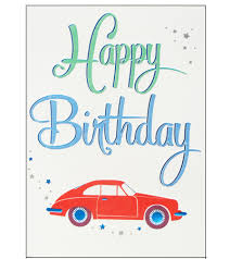 red car happy birthday card ka06 mothers u0027 union online gift shop