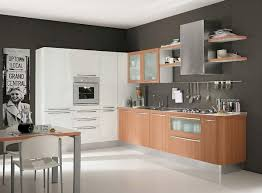Home Kitchen Furniture Modern White Wood Kitchen Cabinets Simple Design 6 On Living Room