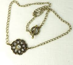 jewelry charm necklace images Necklace rhinestone medallion womens jewelry charm necklace my