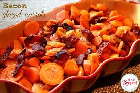 bacon glazed carrots cook 1 lb carrots until almost tender saute 3