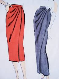 Draped Skirt Tutorial 1950s Slim Draped Skirt Day Or Evening Length Pattern Vogue 9436