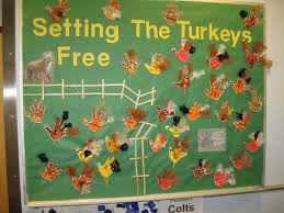 setting the turkeys free thanksgiving bulletin board idea