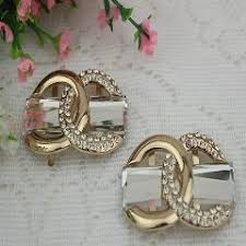 6 pcs lot golden bow sandal metal buckle ornaments shoe