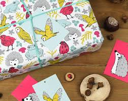 hedgehog wrapping paper hedgehog gift wrap etsy