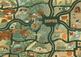 Map Downtown Portland by Denver Neighborhood Maps Wall Google Search 3321 E Colfax