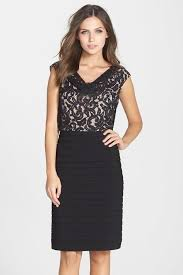 papell lace dress papell lace bodice pleated jersey dress 11241060