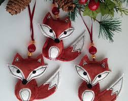 Decorative Christmas Ornaments by Fox Ornament Little Foxes Wall Decor Christmas Ornaments