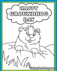 index coloring pages lazy groundhog emerging