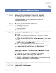 Cosmetology Resume Templates Creative Resume Builder Free Download Creative Resume Builder