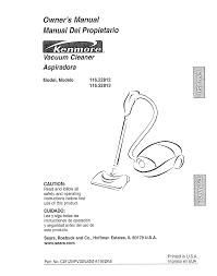 kenmore vacuum cleaner 116 22812 user guide manualsonline com