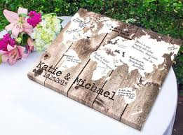 themed guest book pin this thursday travel map weddings wedding favors unlimited