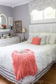 gray and coral bedroom makeover coral bedroom grey and coral