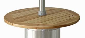 Patio Heater With Table 87 Stainless Steel Patio Heater With Wood Table