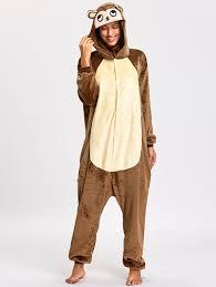 pajamas brown xl unisex monkey animal onesie pajama gamiss