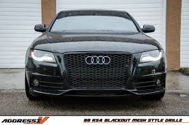 audi rs4 grill rs4 blackout mesh style grille audi b8 a4 s4 09 2012 av 1000
