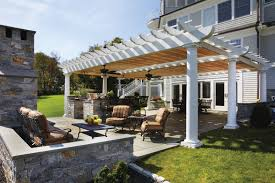 Lattice Pergola Roof by Landscape Architecture Increases Property Value