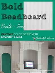 bold beadboard built ins chaotically creative